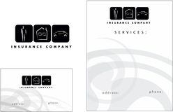 Insurance modern logo, Business Card, Flyer Stock Photography