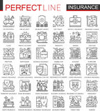 Insurance outline concept symbols. Health and life care Perfect thin line icons. Modern stroke linear style Stock Photo