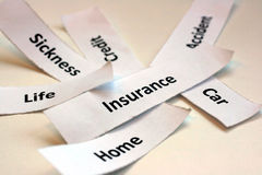 Insurance package Royalty Free Stock Images