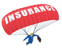 Insurance parachute Stock Image