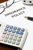 Insurance Policy. Image of an insurance policy on an office table Royalty Free Stock Images