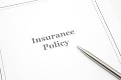 Insurance Policy Royalty Free Stock Image