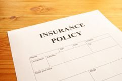 Insurance policy Stock Photo