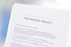 Insurance policy Royalty Free Stock Photo
