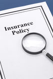 Insurance Policy. Document of Insurance Policy, Life; Health, car, travel,  for background Royalty Free Stock Photography