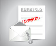 Insurance policy approved concept illustration Royalty Free Stock Photography