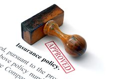 Insurance policy. Close up of Insurance policy Royalty Free Stock Photography