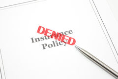 Insurance Policy Denied Royalty Free Stock Photos