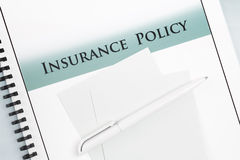 Insurance Policy Document Stock Image