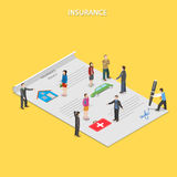 Insurance policy flat isometric vector concept. Stock Photography