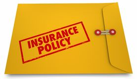 Insurance Policy New Customer Insured Coverage Envelope 3d Illus. Tration Royalty Free Stock Images