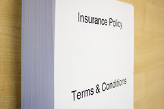 Insurance Policy Terms & Conditions Stock Photo
