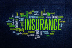 Insurance protection concept word cloud Royalty Free Stock Image
