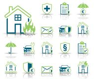 Insurance & Protection - Iconset - Icons. Editable Vector Icons royalty free illustration