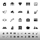 Insurance related icons on white background Stock Photography