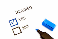 Insurance or risk Royalty Free Stock Photos
