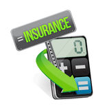 Insurance or risk concept with calculator Royalty Free Stock Photo