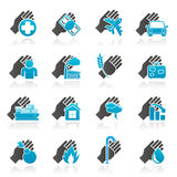 Insurance and risk icons. Vector icon set Royalty Free Stock Photography