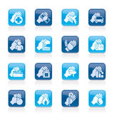 Insurance and risk icons. Vector icon set Stock Photography
