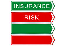 Insurance. Road sign on a white background. Raster Royalty Free Stock Photo