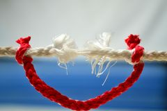 Insurance. Rope breaks,it insures other Royalty Free Stock Photography