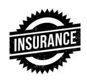 Insurance rubber stamp. Grunge design with dust scratches. Effects can be easily removed for a clean, crisp look. Color is easily changed Stock Photos