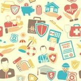 Insurance Seamless Pattern Stock Photography