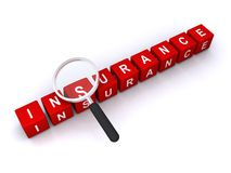 Insurance search concept Royalty Free Stock Image