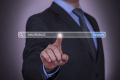 Insurance on Search Engine Royalty Free Stock Image