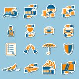 Insurance security stickers collection Stock Images