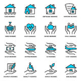 Insurance service outline icons Stock Photography