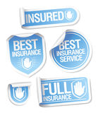 Insurance service stickers. Stock Photo