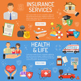 Insurance Services Banners Stock Photography