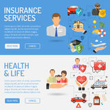 Insurance Services Banners Royalty Free Stock Photography