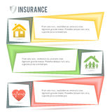 Insurance-services-company-presentation-template Royalty Free Stock Photos
