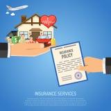 Insurance Services Concept Royalty Free Stock Photos