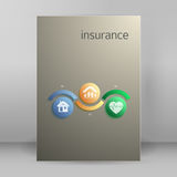 Insurance services cover concept page A4 brochure Stock Photos