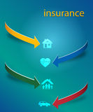 Insurance services cover page booklet arrows concept01 Stock Image