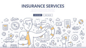 Insurance Services Doodle Concept Royalty Free Stock Image