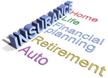 Insurance services home life auto Royalty Free Stock Photos