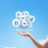 Insurance Services illustration. Design banner stock images