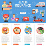 Insurance Services infographics Stock Image