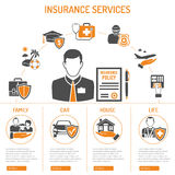 Insurance Services Infographics Stock Images
