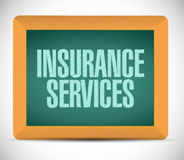 Insurance services message on board. Stock Photo