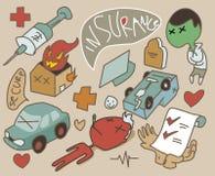 Insurance set symbol Stock Photo