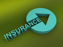 Insurance sign with arrow Stock Image
