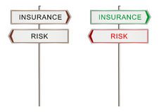 Insurance sign. Insurance. Road sign on a white background. Raster Royalty Free Stock Photography