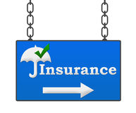 Insurance Signboard Royalty Free Stock Photos