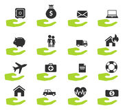 Insurance simply icons Royalty Free Stock Photography