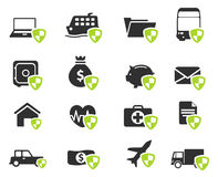 Insurance simply icons Stock Image
